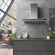 wall-mounted range hood / with built-in lighting / low-noise