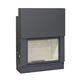 closed wood hearth / 1-sided / steel