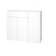 contemporary entryway cabinet / wall-mounted / wooden / with mirror
