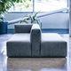 modular sofa / contemporary / leather / fabric