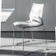 contemporary conference chair / stackable / sled base / with armrests