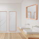 wall-mounted mirror / bedroom / contemporary / rectangular