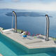 solar garden shower / aluminum / lacquered aluminum