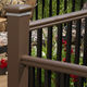 outdoor railing / aluminum / PVC / glass panel