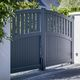 swing gate / aluminum / louvered / residential