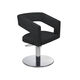 contemporary beauty salon chair / leather / metal / central base