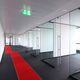 fixed partition / glass / for meeting rooms