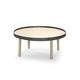 contemporary coffee table / oak / round