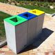 public trash can / COR-TEN® steel / stainless steel / concrete
