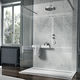 rectangular shower base / stone