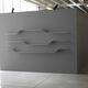 modular shelf / minimalist design / lacquered steel