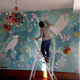home wallcovering / hand-painted / wallpaper look / interior