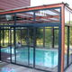 self-supporting conservatory / glass