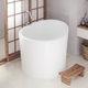freestanding bathtub / round / Solid Surface / deep