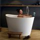 freestanding bathtub / oval / Solid Surface / deep