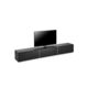 contemporary TV cabinet / lowboard / leather