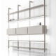 wall-mounted shelf / contemporary / leather / with storage compartment