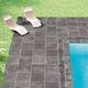 outdoor tile / floor / porcelain stoneware / polished