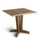 contemporary table / wooden / square / for public buildings