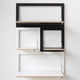 shelving system / wall-mounted / contemporary / wooden / residential