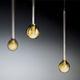 pendant lamp / contemporary / borosilicate glass / handmade