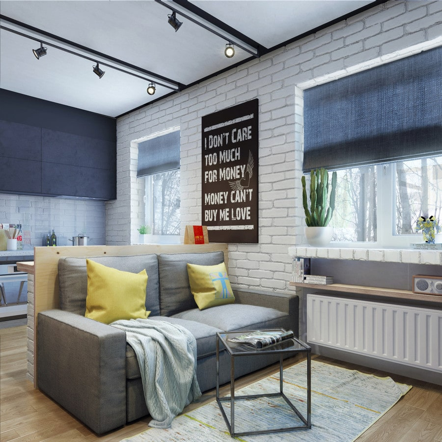 apartment designs for a small family, young couple and a bachelor