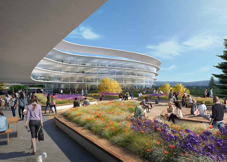 Beautiful Apple New Office Design Ajns Media With Everyone Working