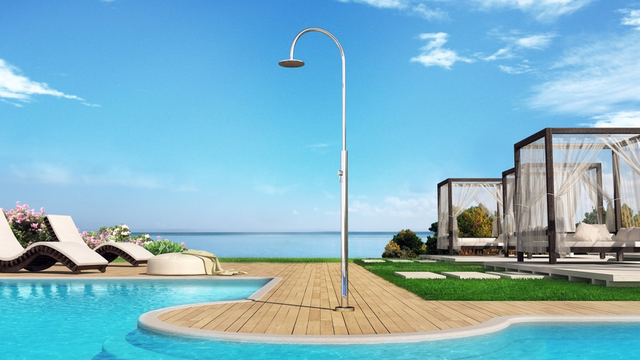 Aria Cylinder M Beauty - Stainless steel nautical outdoor shower for ...