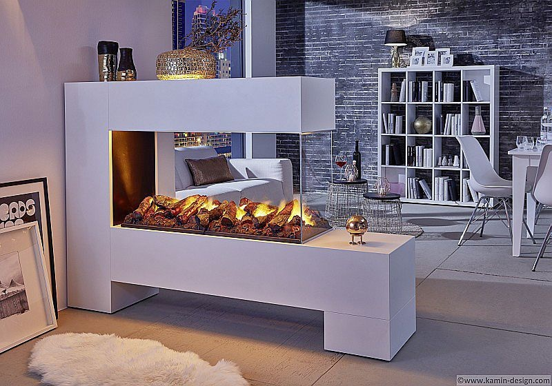 ASPECT 13 L100 de Luxe electric fireplace as a room divider