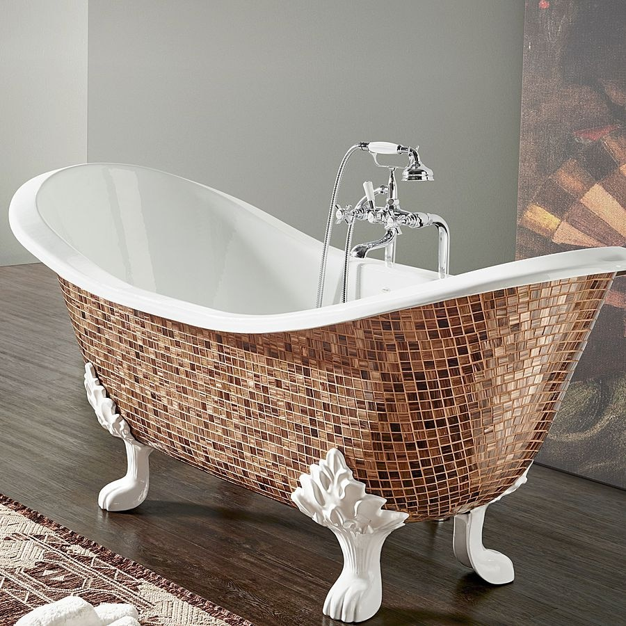 Cast iron bathtub in Mosaic: give a touch of charm to your bathroom ...