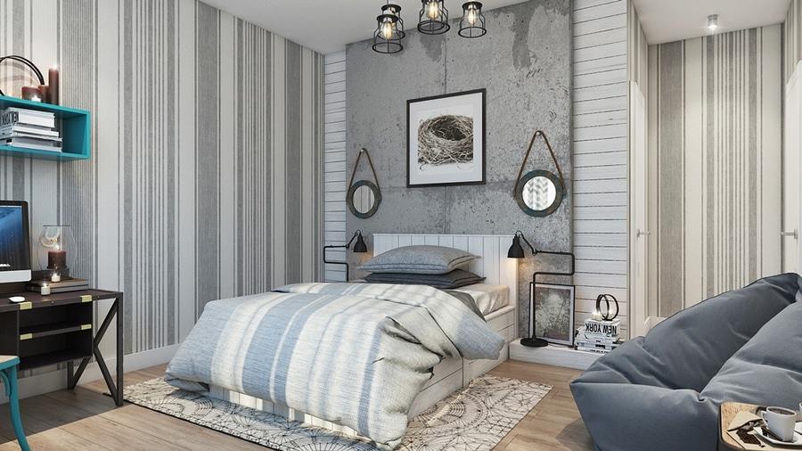 Bedroom Wall Textures Ideas Inspiration Delhi India - Texture design for bedroom wall