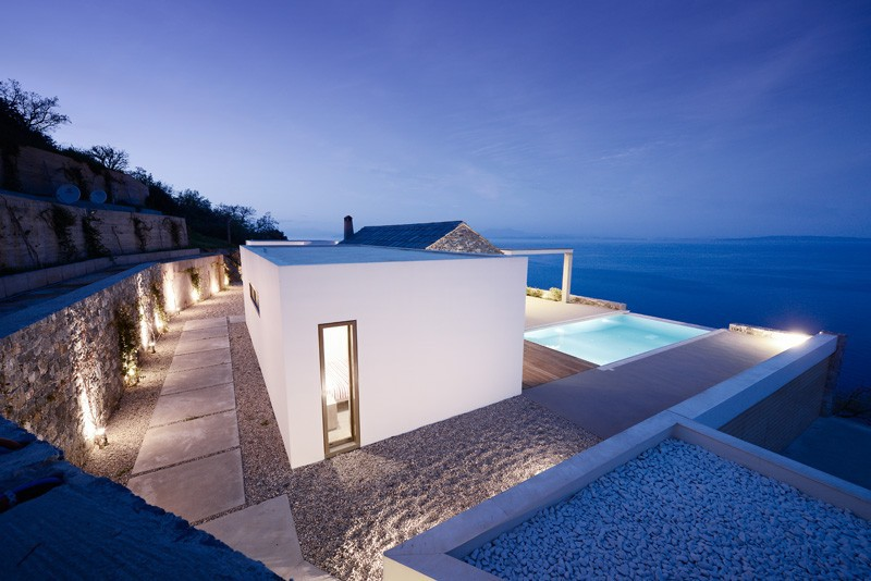 A Contemporary Greek Home Clad In Local Arcadian Stone Tyros Greece