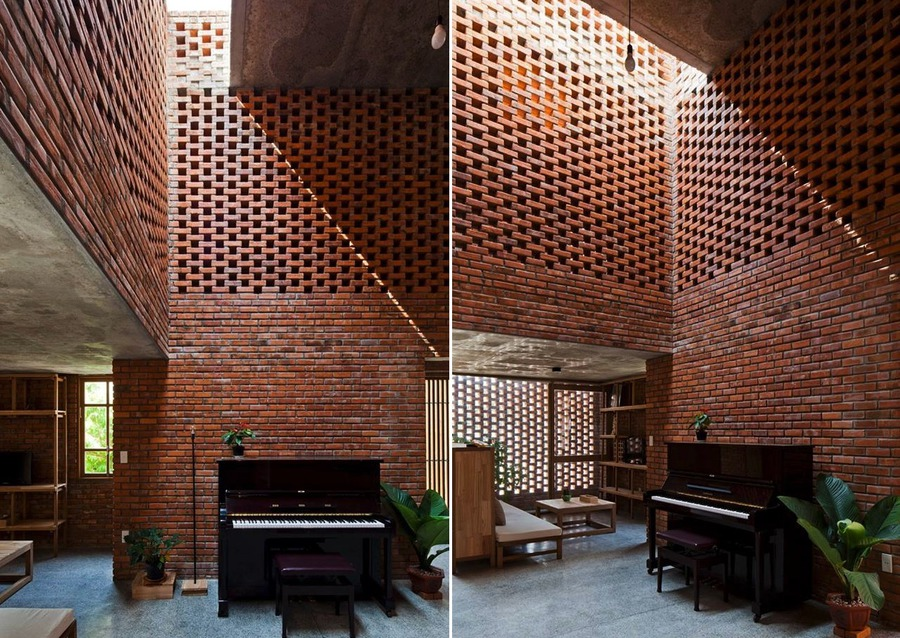 Good A Creative Brick House Controls The Interior Climate And Looks Amazing