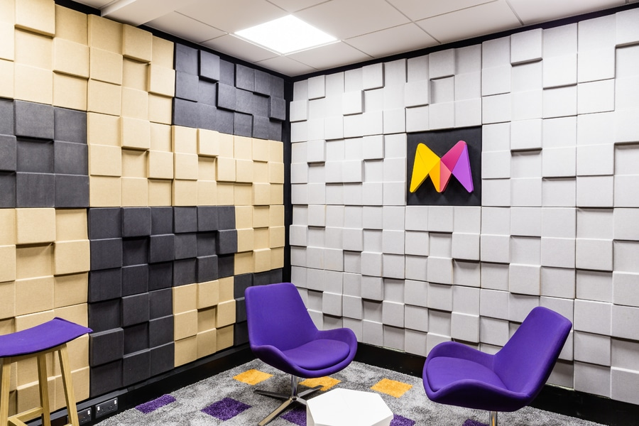 Cubism Acoustic Panels Create Fabulous Sound And Design For Moneycouk  Project
