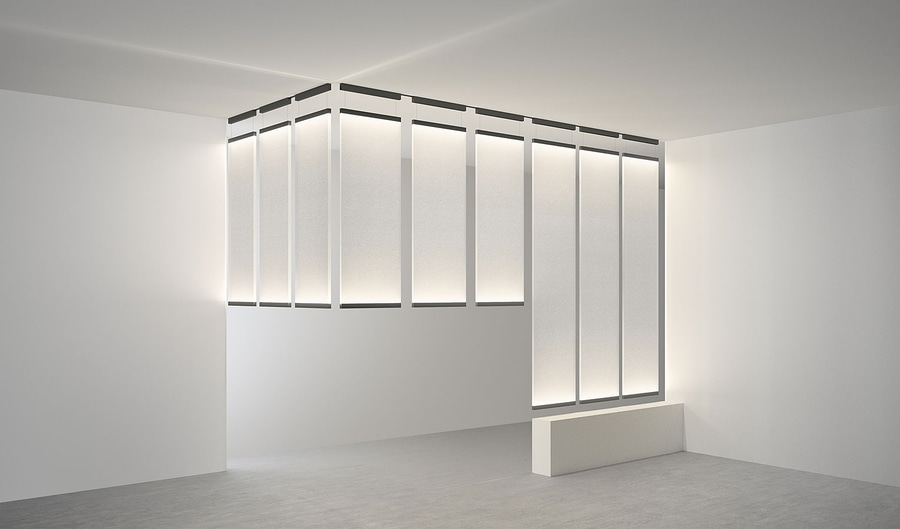 curtain cascade light vibia lighting