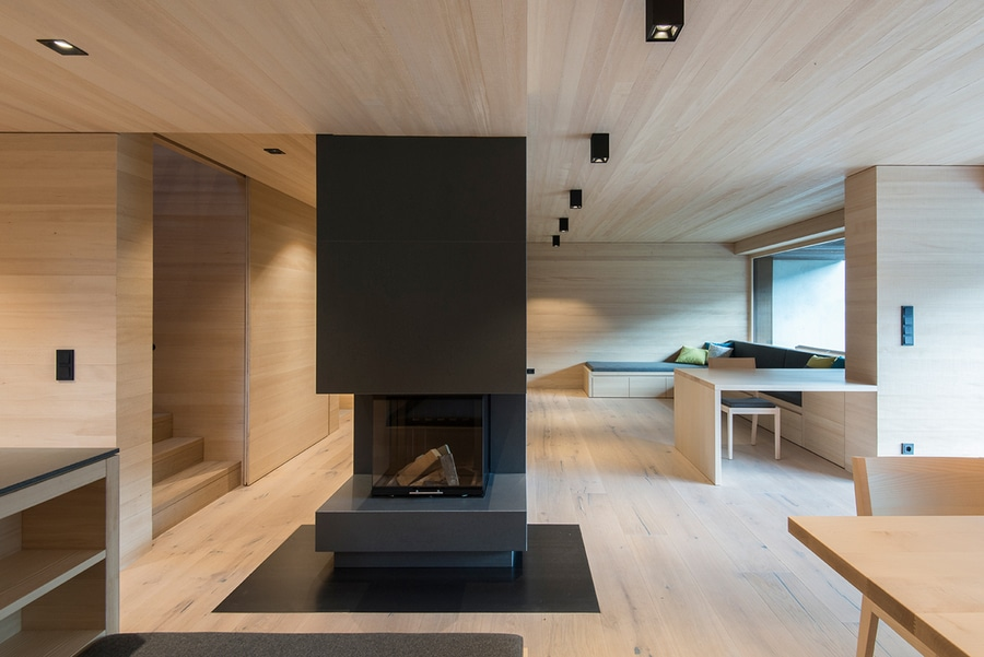 Designed by lp architektur this single family house makes good use of subtle wood