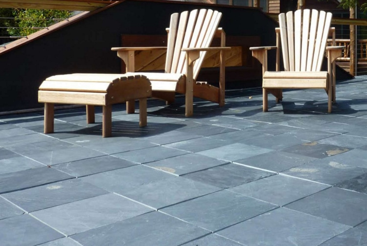 Ordinaire EzyTile Interlocking Slate Deck Tiles