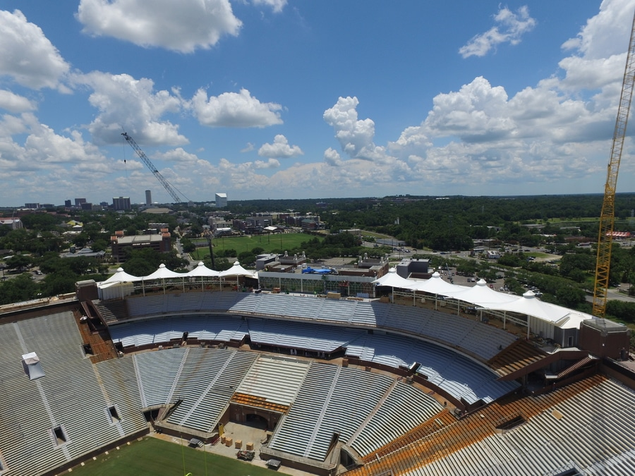 FabriTec Structures Spearheads Tensile Membrane Canopy Design and Construction For Florida State University Doak C&bell Stadium & FabriTec Structures Spearheads Tensile Membrane Canopy Design and ...