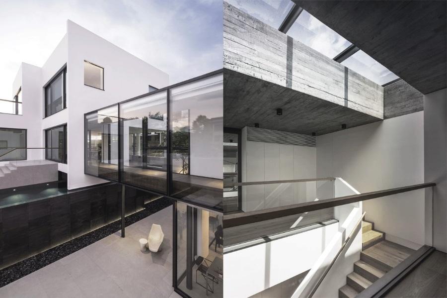 Idau0026Billy Architects, Bridged House, Kowloon Tong, Hong Kong, 2015. Left: