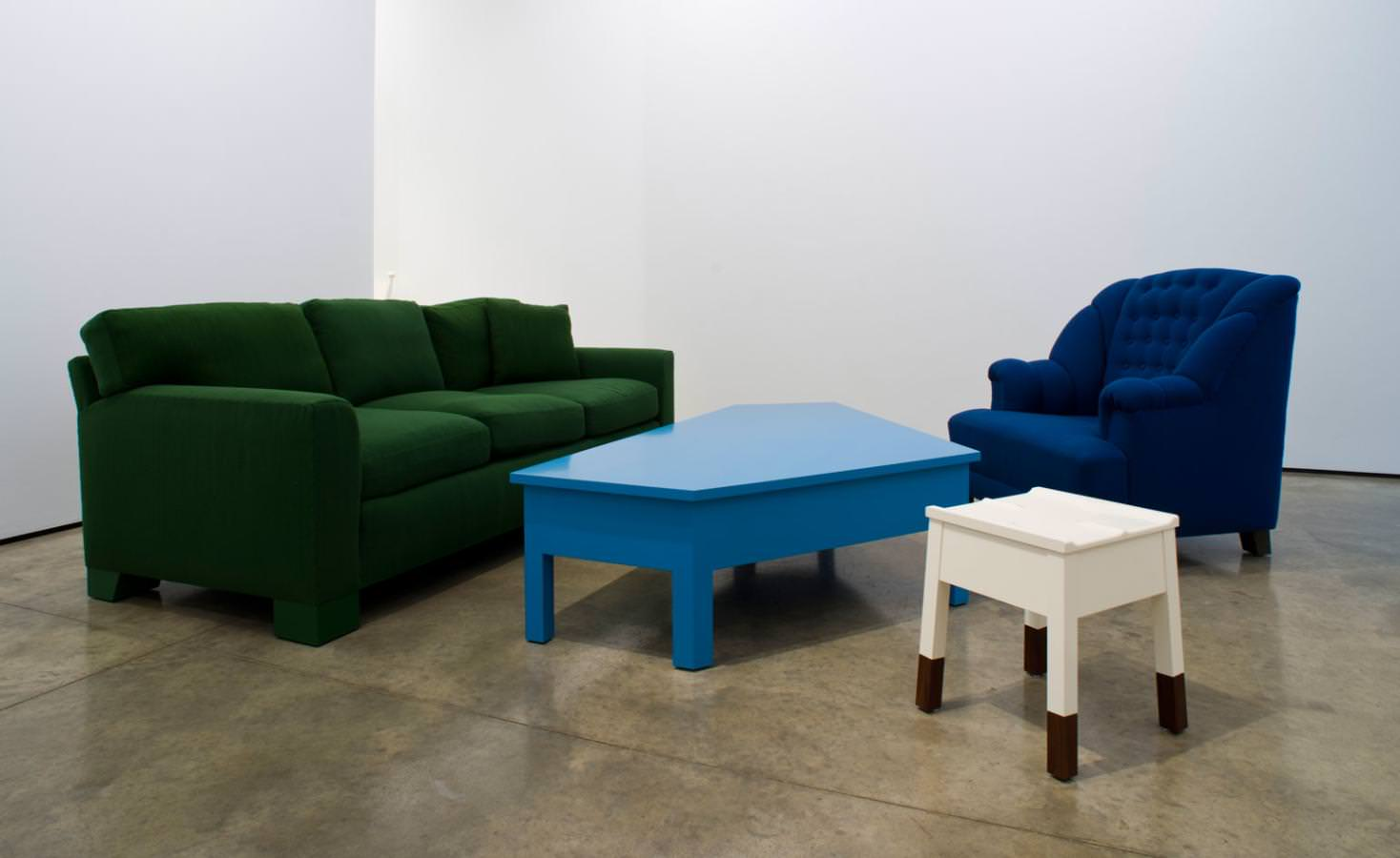 Installation View Of Roy McMakinu0027s U0027Domestic Furnitureu0027, On Show At Lora  Reynolds Gallery
