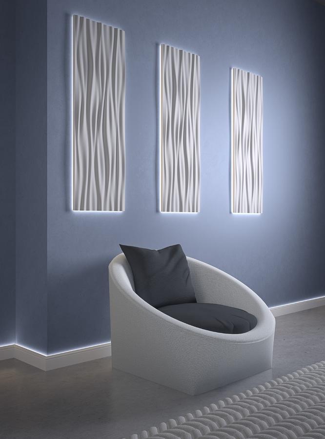 Light frames for wall panels Lighting solutions
