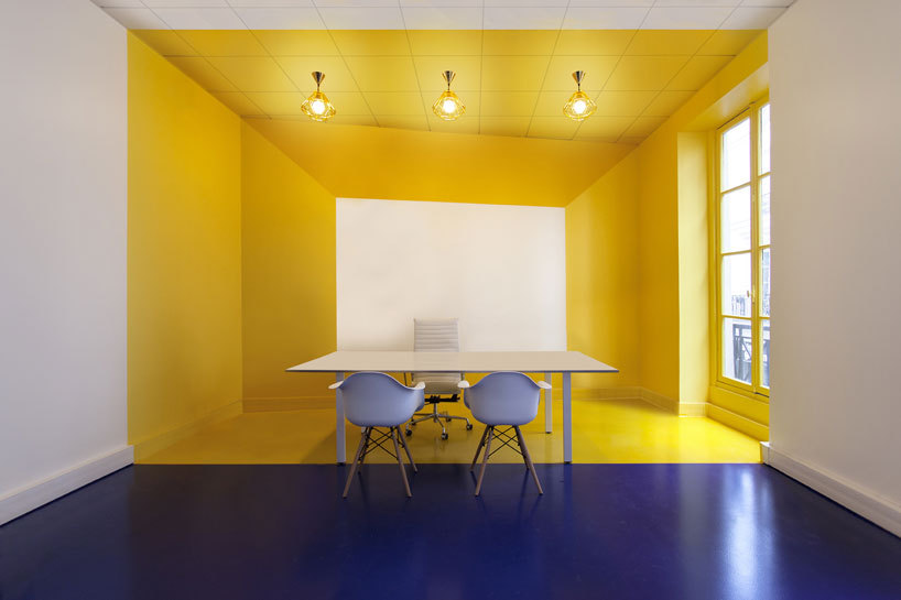 colors for office space green malka architecture defines parisian office space with bold colors