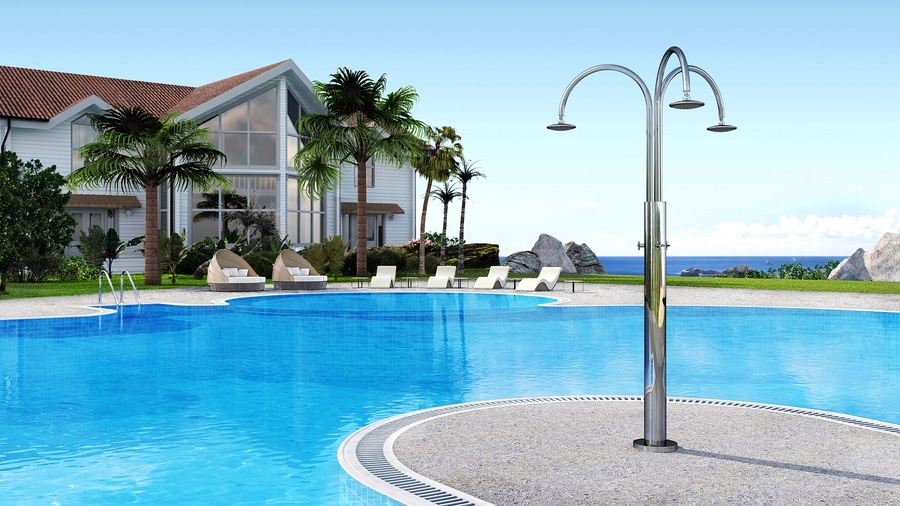 Melody Cylinder 3B - Stainless steel nautical outdoor shower for ...