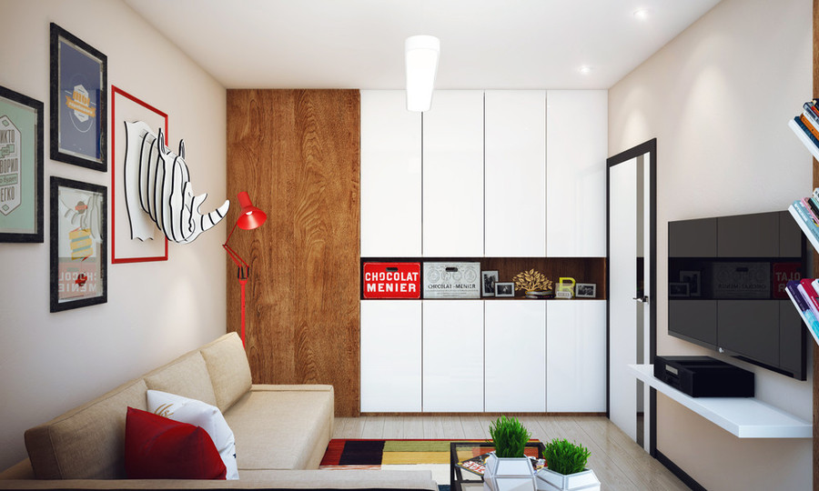 Minimalist 1 Bedroom Apartment Designed For A Young Man ...
