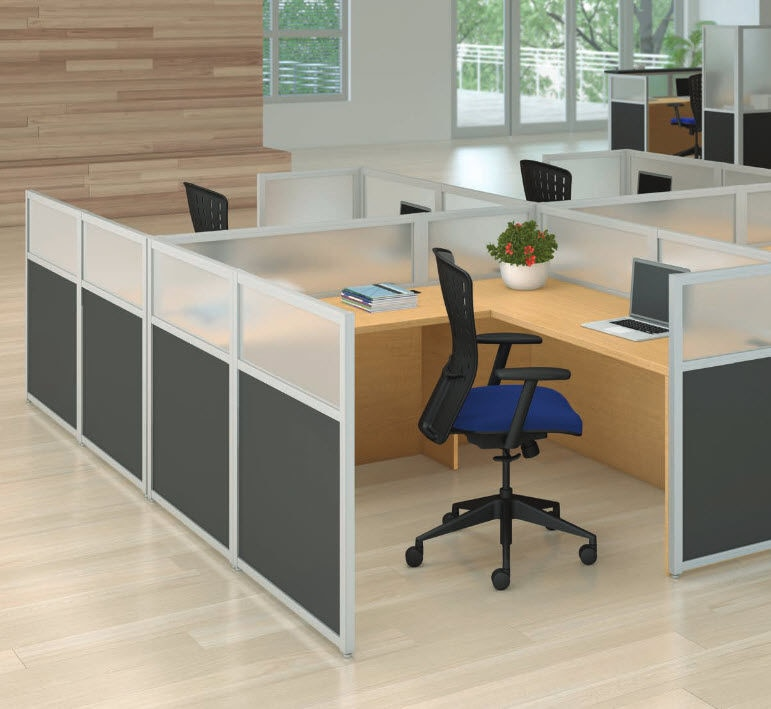 New Floor Mounted Desk Partition By Abco
