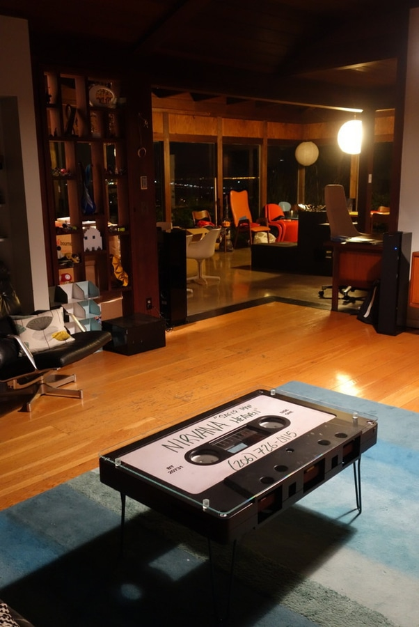 A NEW HOME FOR ONE OF ALTAR FURNITUREu0027S NIRVANA GREAT TAPE TABLES.
