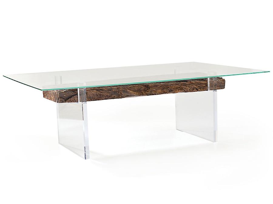 Beau Oitis Acrylic Dining Table   Glass Top