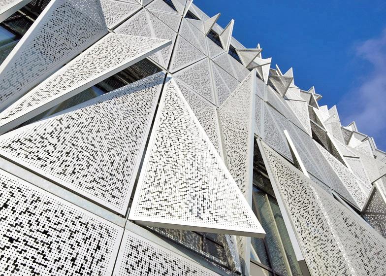 One Of The Buildingu0027s Most Important Features Is The Responsive Facade Made  Of Perforated Metal Screens