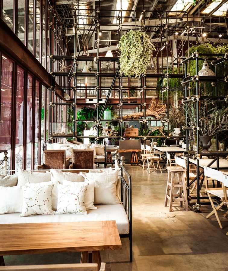 hypothesis converts tractor warehouse into plantfilled restaurant