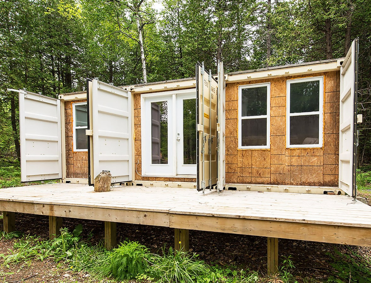 a canadian man built this off-grid shipping container home for